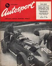 Autosport 13 Oct 1950 - Castle Combe, Grand Prix Mercedes Benz, Flag Marshals