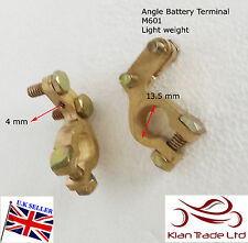 12V Car Battery Terminals Clamps Connectors car vehicle Brass Bolts + / - (M601)