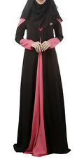 Ramadan Muslim Long Sleeve Maxi Dress Abaya Cocktail Jilbab Kaftan Islamic Arab