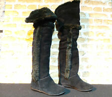 Ladies ALDO CHIRDON Suede Black Over Knee Boots UK 3 EU 36 RRP £150 ONLY £50 NEW