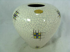Beautiful glazed  50´s WGP design Silberdistel pottery Keramik vase  58/15