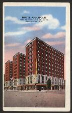 USA. Washington D.C. Hotel Annapolis. 11th to 12th at H St., N. W. 1939 Postcard