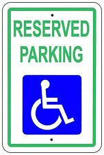 Reserved Handicap Parking Sign Heavy Gauge Aluminum Signs