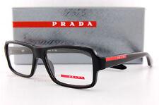 New Prada Sport Linea Rossa Eyeglass Frames PS 01G 01GV 1AB BLACK 53mm Men Women