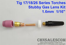 5 pcs TIG Welding Torch Stubby Gas Lens Kit for Tig WP-17/18/26 Series 1/16""