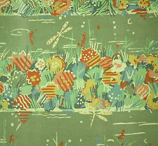 vintage 1980s Collier Campbell Water Meadow abstract floral print cotton fabric