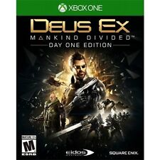 Xbox One 1 Deus Ex Mankind Divided D1 Day One Edtn NEW Sealed Region Free USA