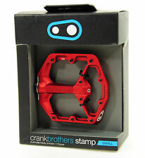 Crank Brothers STAMP Platform Mountain Bike Pedals, Small, Red