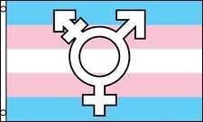 Transgender Pride ⚧ Symbol Flag 3x5 ft Banner Pink Blue Transsexual Trans