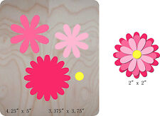 Flower Pink Wood Die Cutter Steel Rule Die Fits Big shot Pro, Sizzix, Bigkick i8