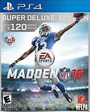 PlayStation 4 Madden NFL 16 (Deluxe Edition) - PlaySta VideoGames