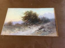 EARLY WATER COLOR ON BOARD SIGNED H KOCH CALIFORNIA CABIN PAINTING FRAMED Listed