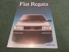 March 1987 Fiat REGATA Saloon - FRENCH FOLDER BROCHURE