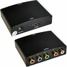 HDMI to Component & Audio Converter–5 RCA/Phono YPbPr RGB TV/DVD Projector 1080P