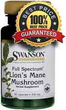 LIONS MANE MUSHROOM 500mg 60 Capsules Full Spectrum ** AMAZING PRICE **
