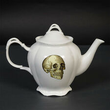 CUBIC ANATOMICAL SKULL & HEART FINE CHINA TEAPOT. ANATOMY. VINTAGE STYLE. GOTHIC