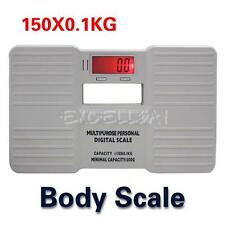 Portable Electronic Digital Bathroom Personal Fat Weight Body Scale 330LB  E0Xc