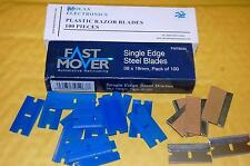 100x single sided razor blade and 100x plastic razor blade
