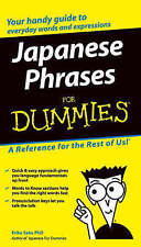 Japanese Phrases For Dummies by John Wiley & Sons Inc (Paperback, 2004)