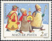 Hungary 1985 Christmas/Greetings/Carol Singers/Music/Church/Animation 1v n45204