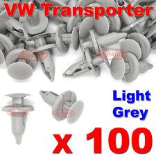 100 VW Transporter T4 T5 clips de panel guarnecido más largo Forro de alfombra gris claro