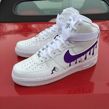 Nike Air Force 1 High Sz 9 Purple Reign Freebandz Weeknd Drake Supreme  Custom