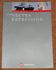 1998 VAUXHALL VECTRA EXPRESSION Sales Brochure - Special Edition Model