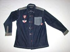P. Miller Signature Collection Youth Denim Button Shirt Size L 16/18 Master P