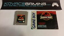 Jurassic Park for Nintendo Game Boy with instructions TESTED