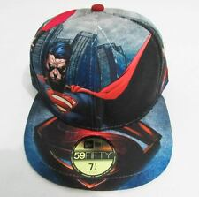 NEW ERA CAP HAT 59FIFTY SUPERMAN THE MAN OF STEEL ALL OVER DC COMICS SIZE 7 1/4
