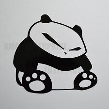 Black Panda Decal Sticker Vinyl Badge for Cars Scooters Motorbikes Quads Laptops