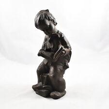 """Achatit Figur """"Junge lesend"""" Naturstein Handarbeit Figur (Stoneware Figure) 25cm"""