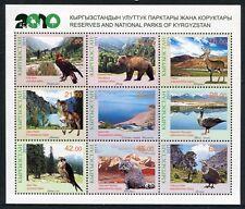 KIRGISIEN KYRGYZSTAN 2011 Naturpark Tiere Vögel Bär Hirsch Animals 649-57 ** MNH