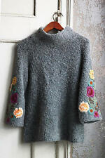 NIB Anthropologie Rosevine Sweater Tunic Size XS by Sleeping on Snow
