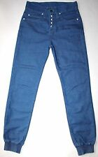 Humor Button Fly Delzu Joggers Jeans Tapered Ankles 30 X 30.5 AWESOME EUC