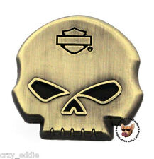 HARLEY DAVIDSON WILLIE G  STAINED GLASS EYES SKULL PIN  MOTORCYCLE VEST PIN