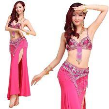 Pro Belly Dance Costume 8 colors full Skirt 2 side slit Skirt Dress Carnival