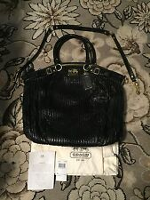 COACH MADISON LINDSEY GATHERED LEATHER SATCHEL PURSE SHOULDER BAG 18643 HTF