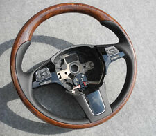 VW Touareg 7P6 WOOD / LEATHER steering wheel Volkswagen 2012-2015 LW 7P