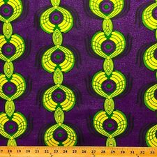 African Print Fabric 100% Cotton 44'' wide sold by the yard Peacock (90107-1)