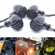 4× Ambre Clignotants Mini Noir Bullet Lumineux clignotant Pour Moto Harley