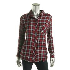 Rails 9702 Womens Purple Plaid Pocket Long Sleeves Button-Down Top Shirt M BHFO