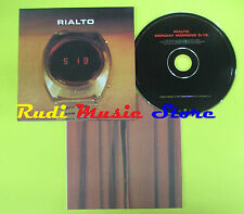 CD Singolo RIALTO Monday morning 5:19 CARDSLEEVE 1997 EW no lp mc dvd vhs (S14)