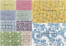 500 Metre Wholesale Lot Indian Cotton Block Print Floral Fabric Sewing Crafts