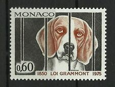 MONACO CHIENS PROTECTION DES ANIMAUX LOI GRAMMONT 1850 LAW DOGS HUNDE ** 1975