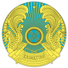 "Kazakhstan Coat of Arms Flag car bumper sticker window decal 5"" x 5"""