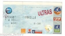 Billet / Place Olympique de Marseille - Strasbourg vs OM - 2005 ( 009 )