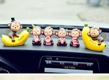 New Fashion Car Decoration 6 Pieces Cute Love Monkey Dolls Interior Accessories