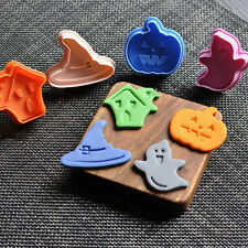 4Pcs Halloween Ghost Plunger Chocolate Cake Cookie Fondant Mold Mould Cutter POP