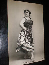 Old postcard dancer ballet shoes Pilar Olivares c1920s Spain